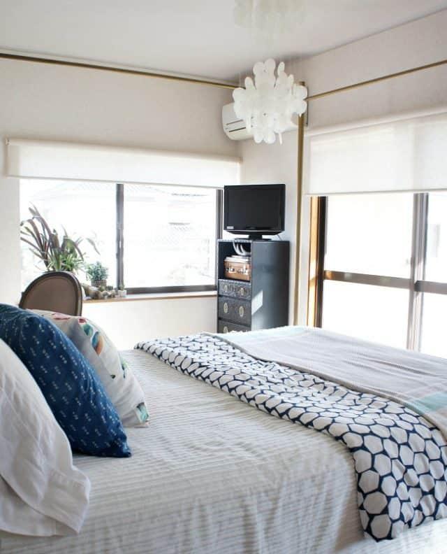 hiding eyesore in a rental - beautiful solutions