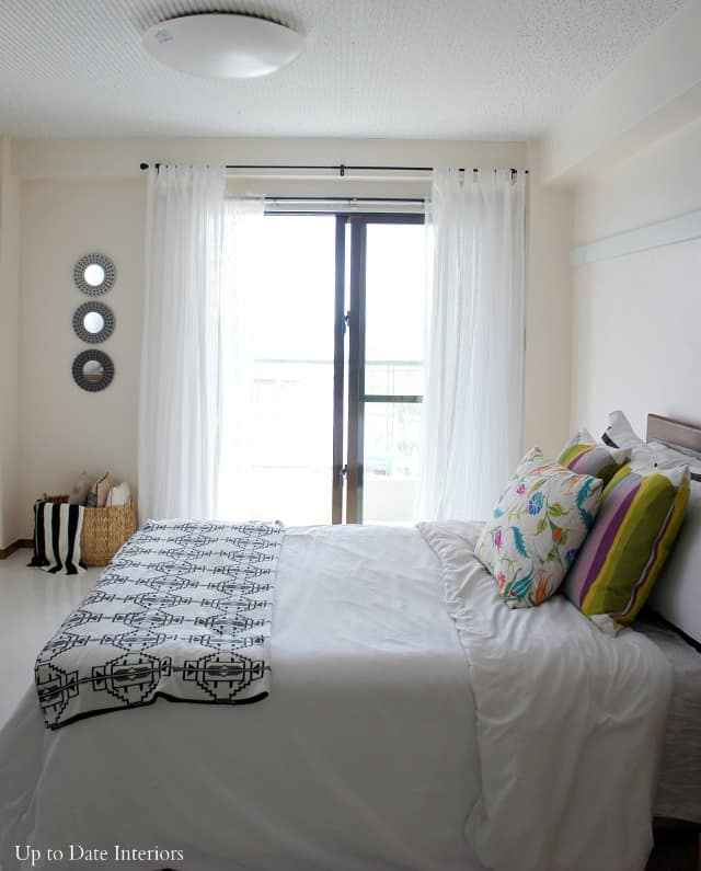hang curtains in a rental without putting holes in the wall