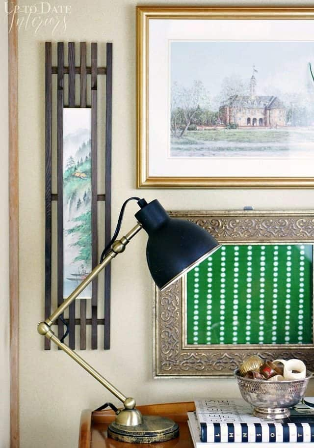 Easy british colonial style with diy green art
