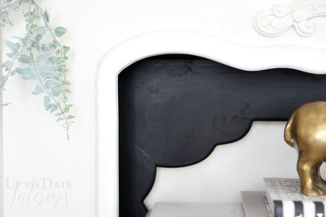 fireplace makeover with rental friendly decorating ideas!