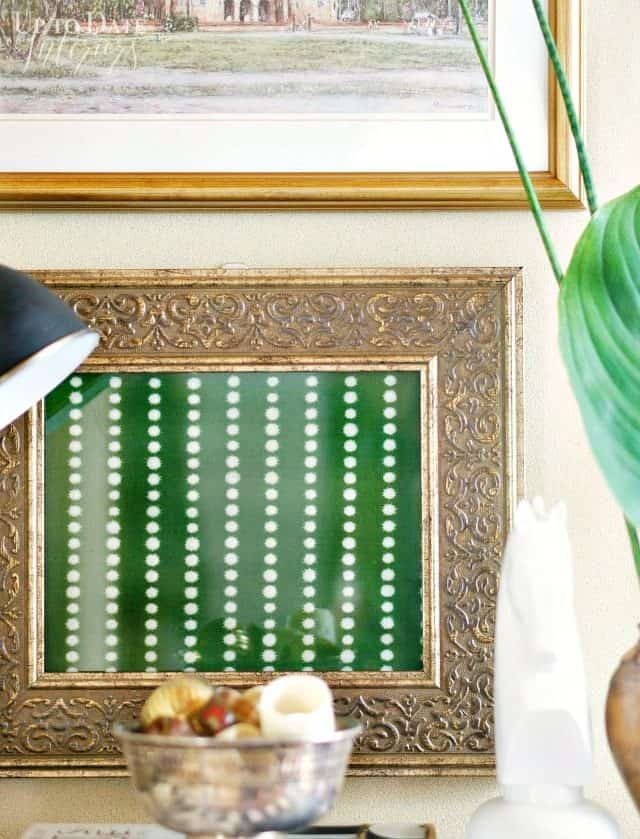diy framed fabric art for British colonial style