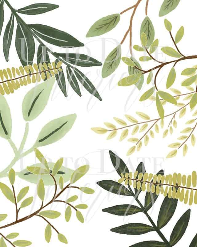 free printable greenery