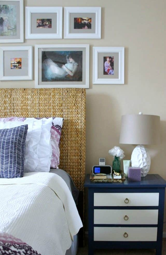 change a bedroom set of furniture with paint and new pulls