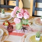 An Eclectic Spring Tablescape with Succulents and Fresh Blooms