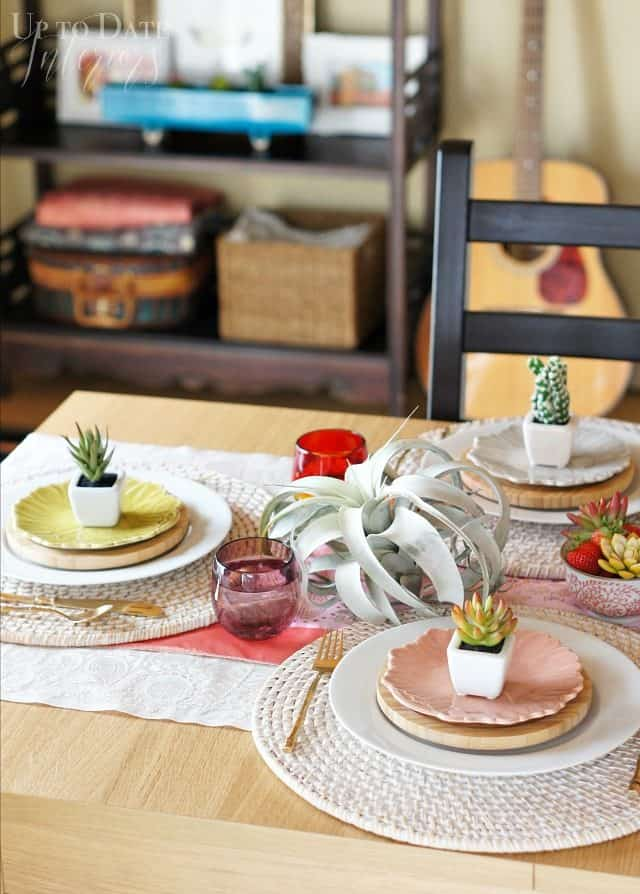 global eclectic tablescape