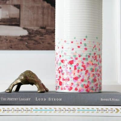 Confetti DIY Dollar Store Vase