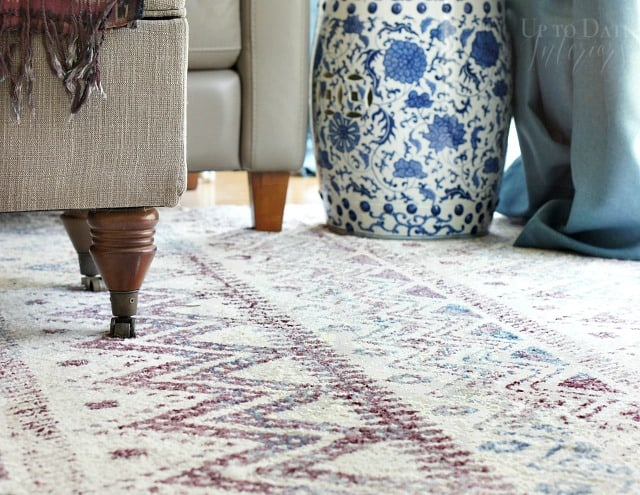 inspired by Miles Redd with global eclectic style rug