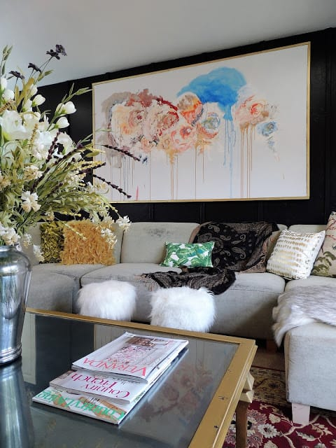 Glam Eclectic Living Room_Raising a Farmhouse