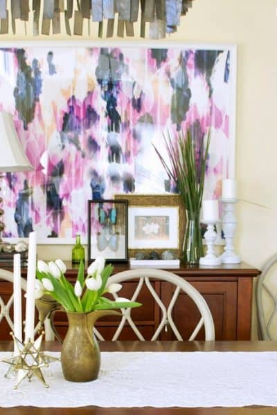 add art to your rental dining room