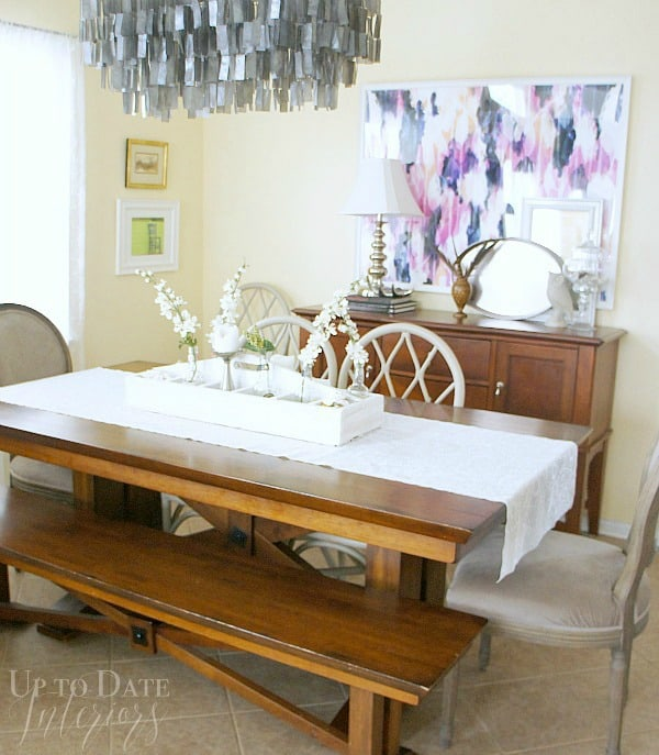 update a rental dining room with a chandelier