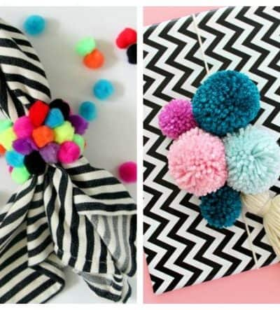 the creative circle features pom poms
