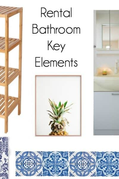 bathroom plans and key elements