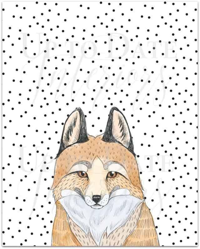 free fox printable