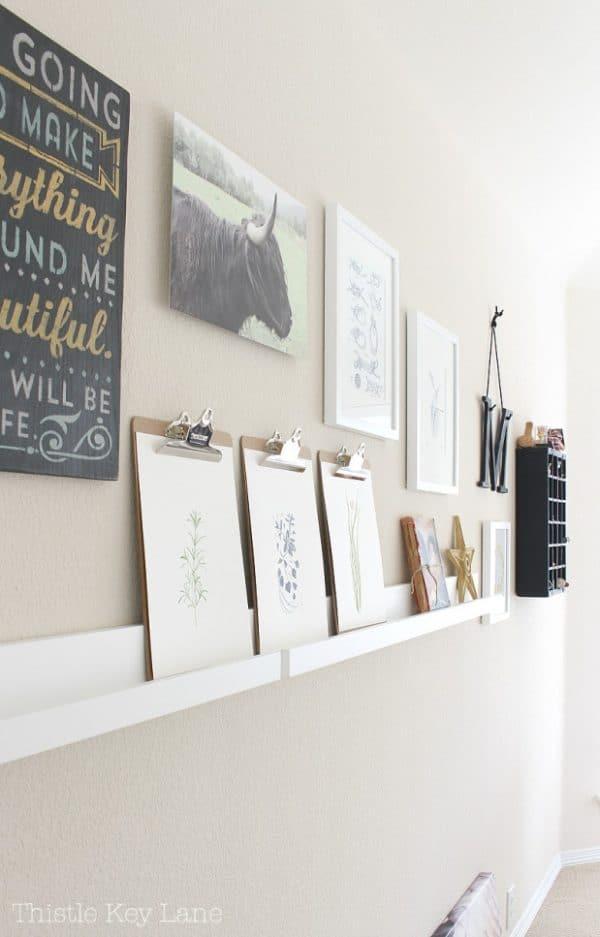 long-gallery-wall-photo-ledge
