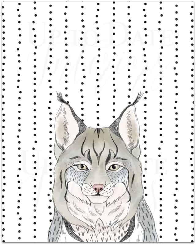 free lynx printable