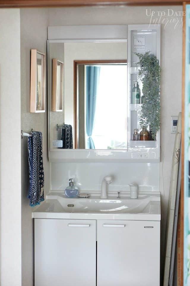 rental bathroom makeover on a budget