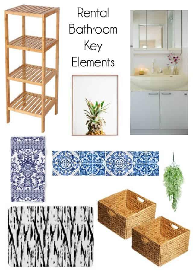 rental bathroom key elements