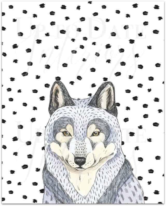 free wolf printable